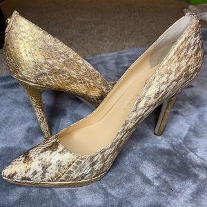 Ivanka Trump snake print heels